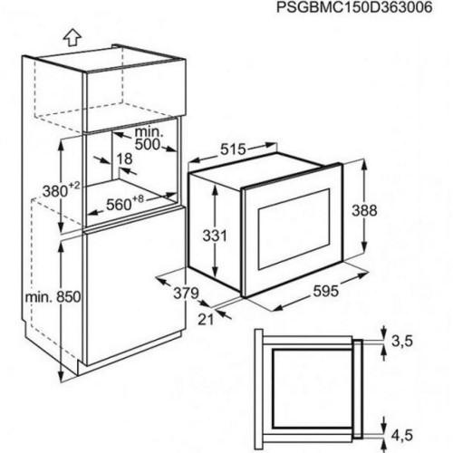 Микроволновка с грилем Electrolux EMT25203OK
